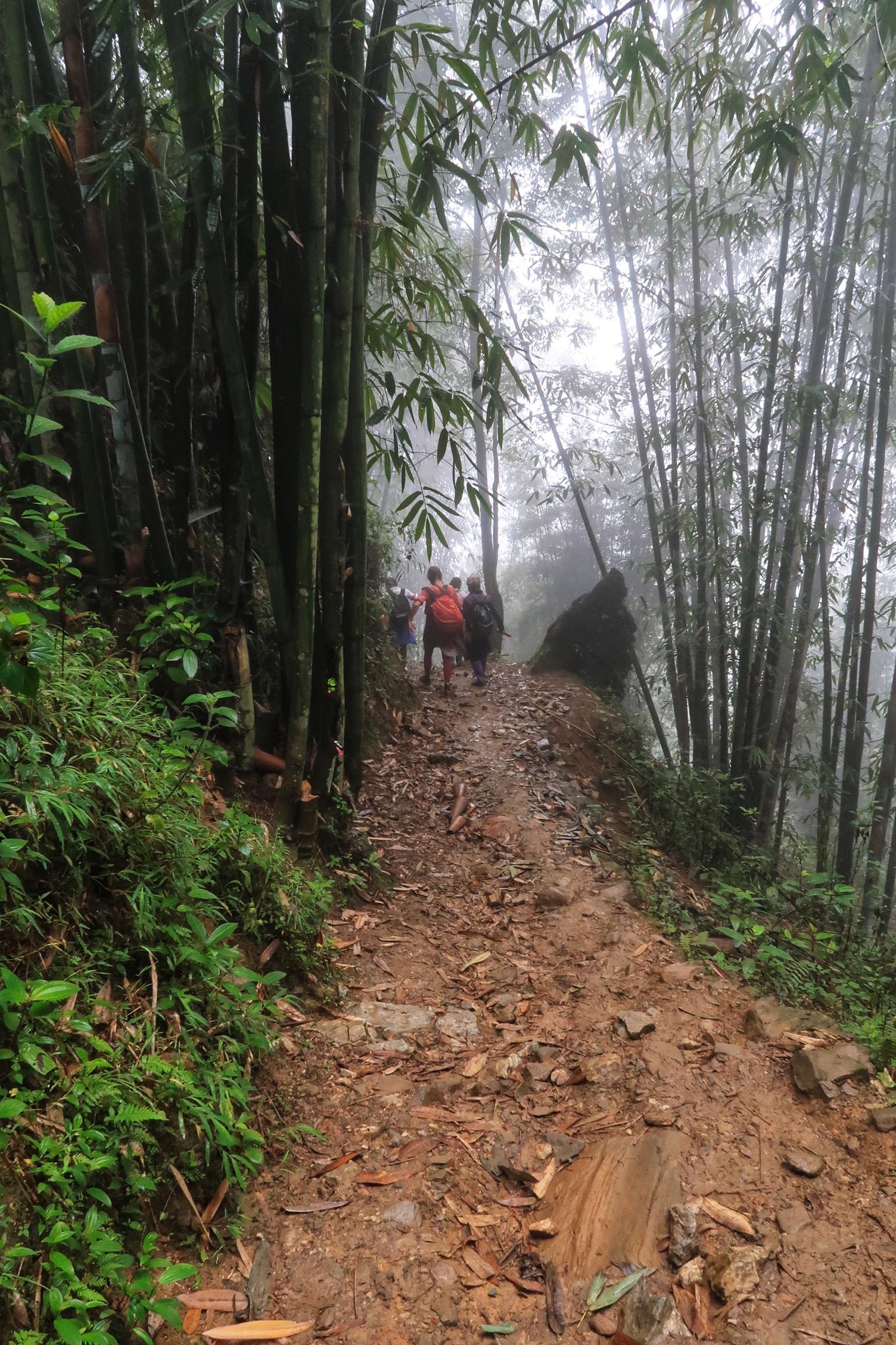 Starten på vore Sapa-trek i regnvejr