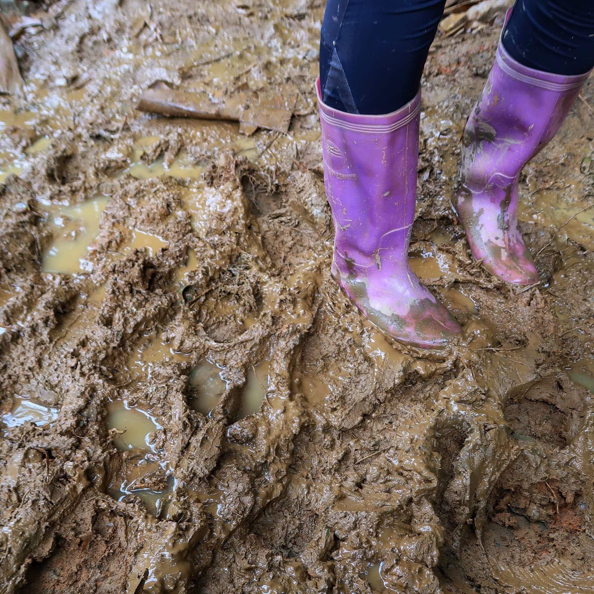 Sapa trekking og en masse mudder
