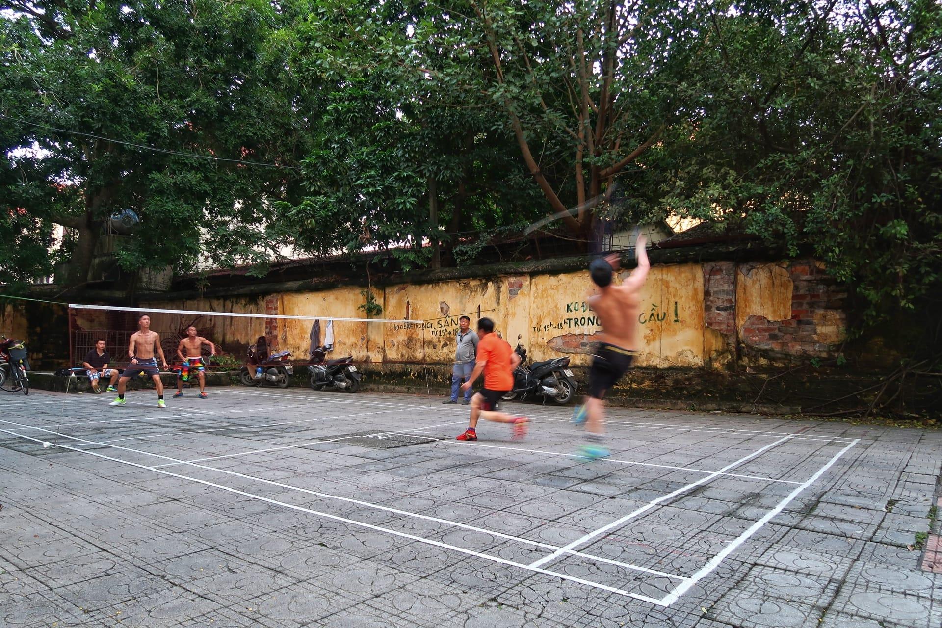 Badmintonkamp i Hanois gader