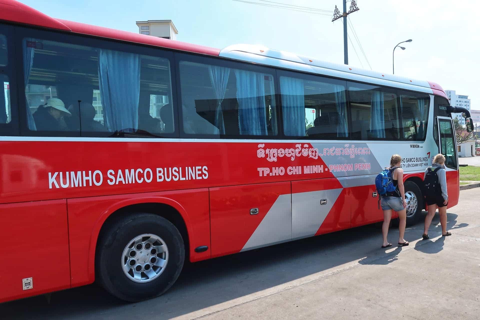 Bus fra Vietnam til Cambodia