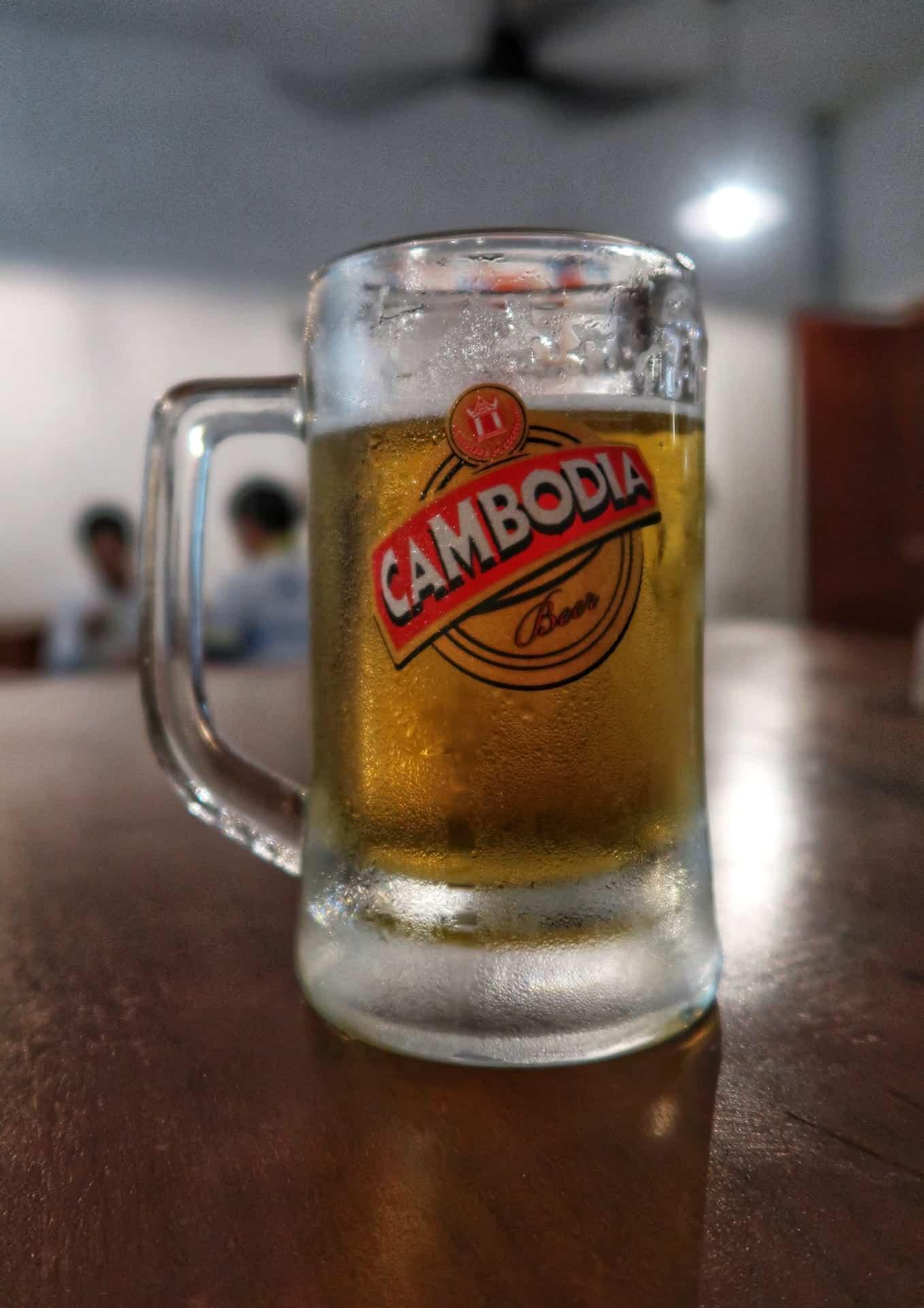 Cambodia øl på Restaurant Eleven
