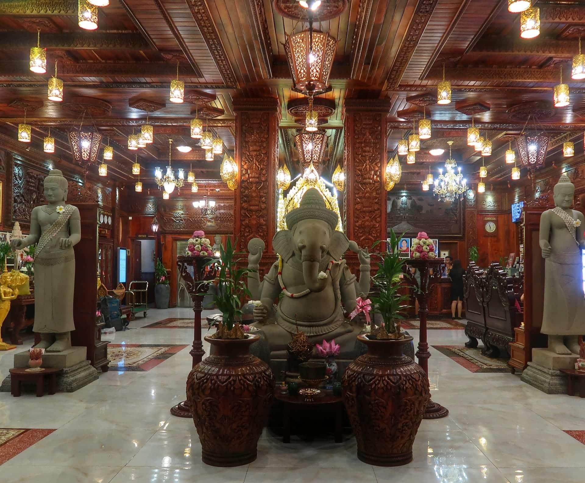 Lobbyen på Okay Boutique Hotel i Phnom Penh