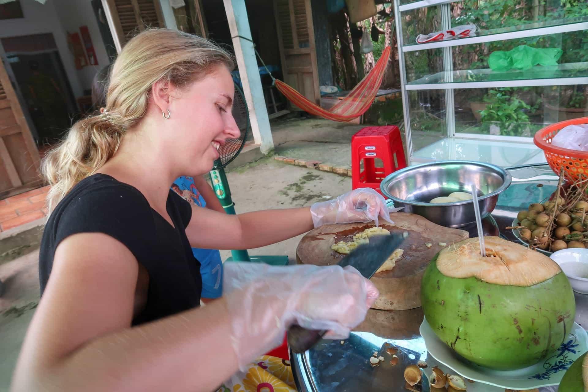 Maria laver vietnamesisk banankage