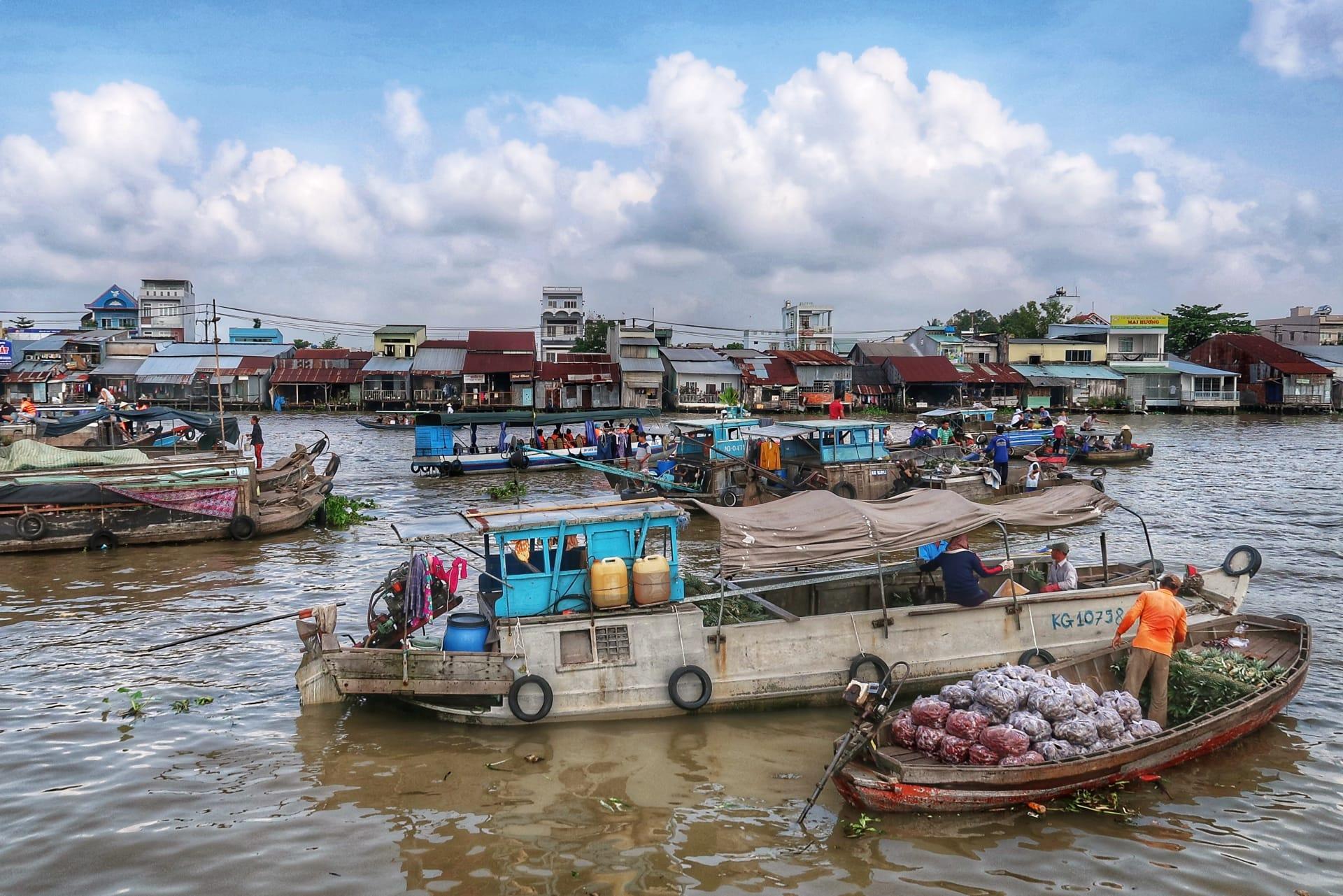 Mekong River alle bådene