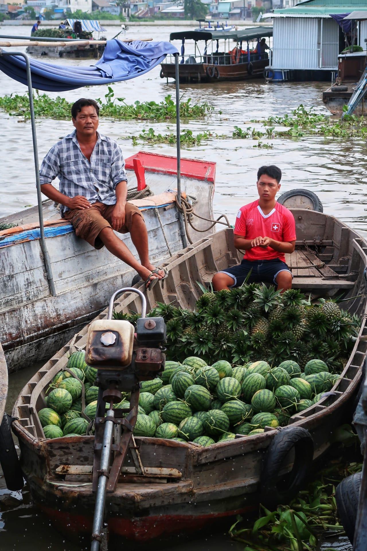 Mekong River marked frugt