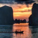 Solnedgang i Halong