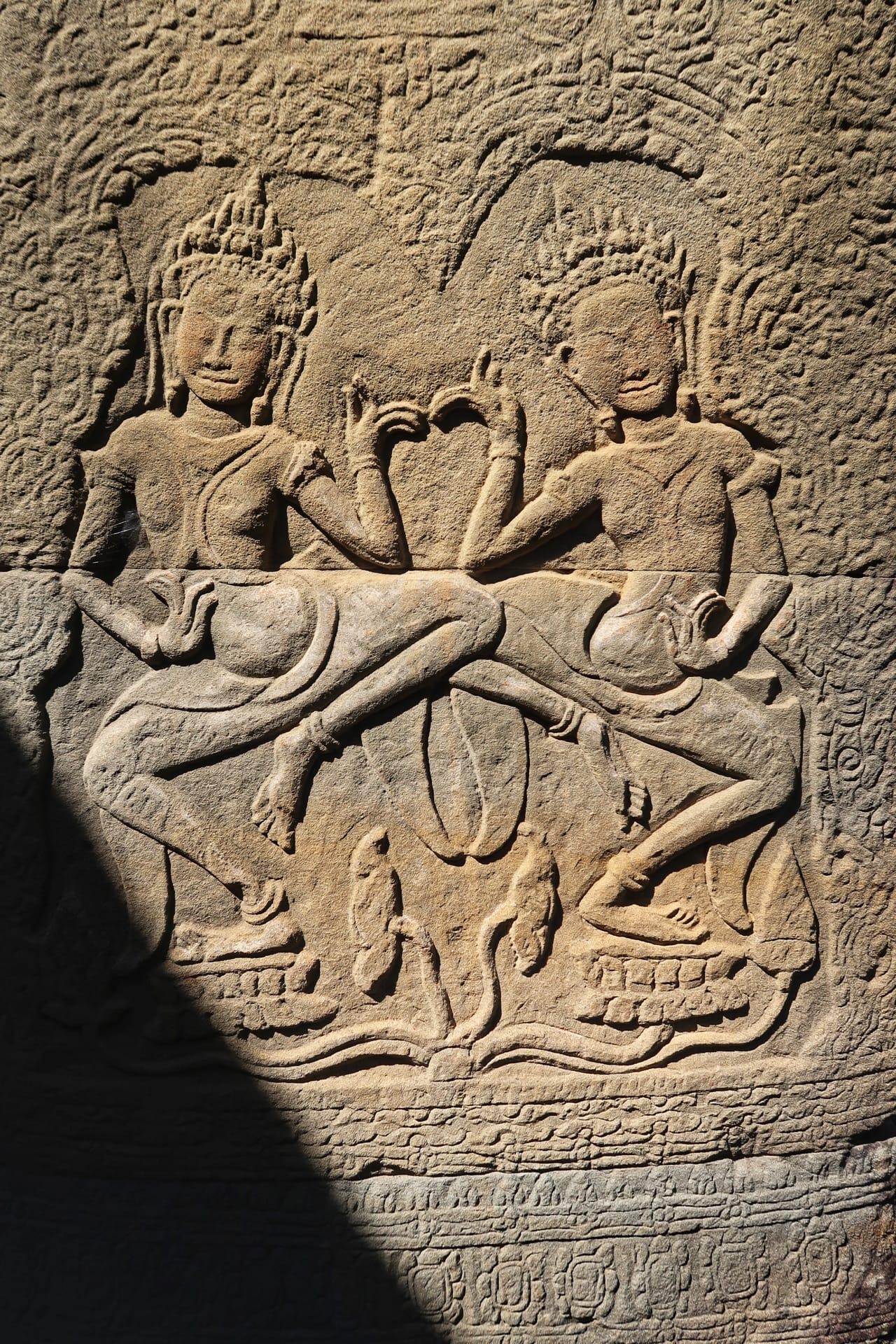 Angkor tempel dekoration