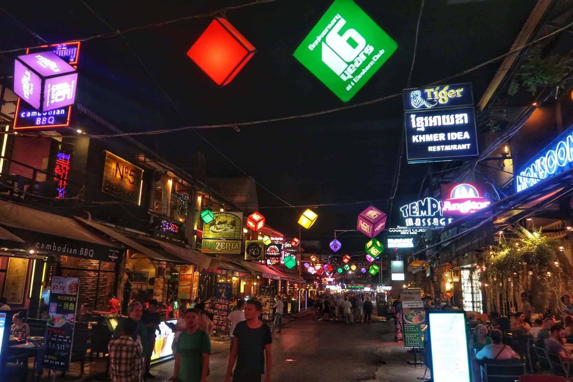 Pub street i Siem Reap
