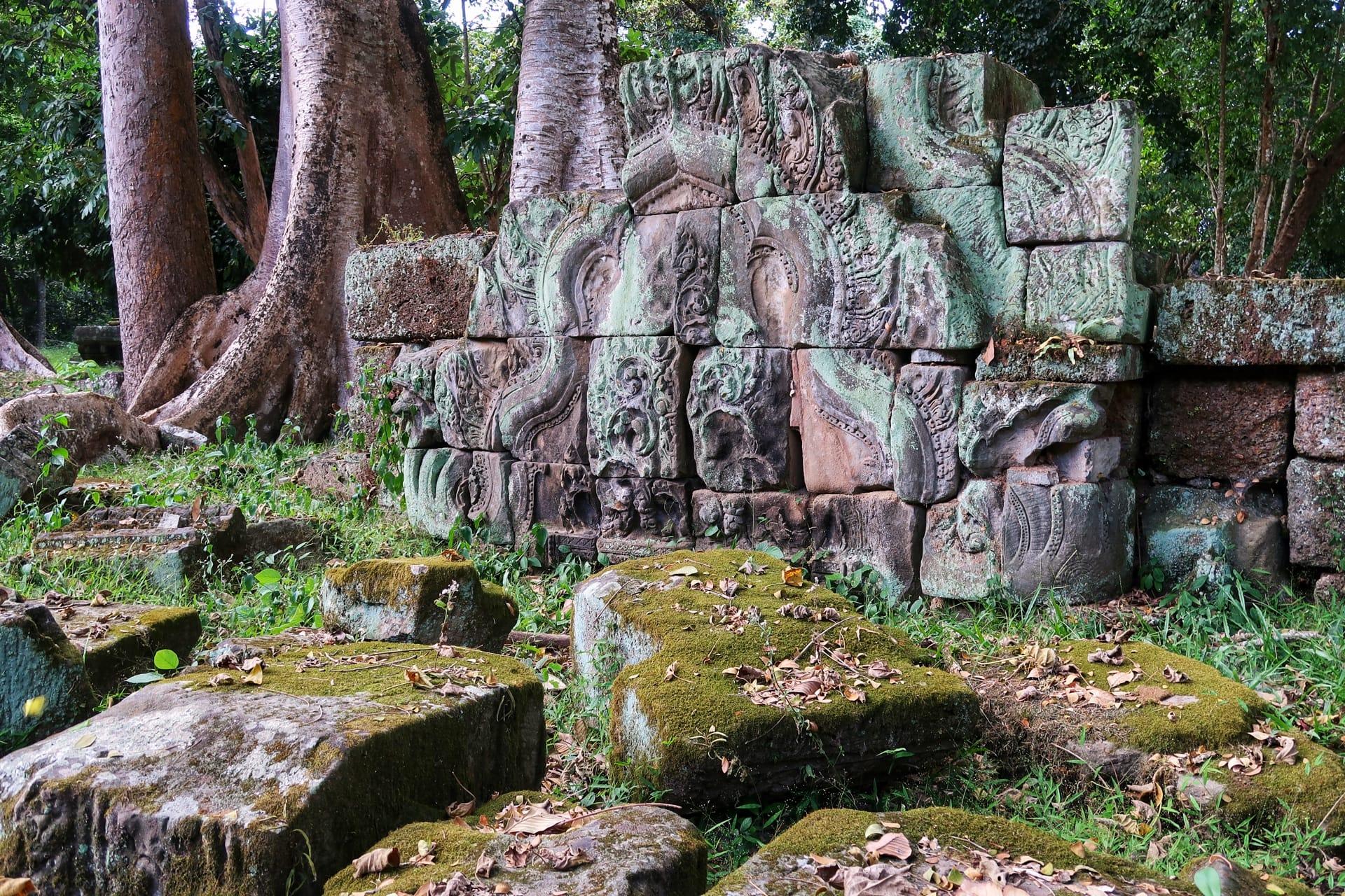 Tempelsten i skoven